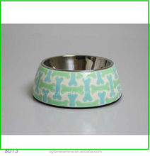 Stainless Steel Bowl Inside Two In One Hardware Tool Printing Melamine Dog Bowls