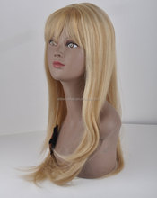 Rebecca Straight Long Human Blonde Wig For Sale