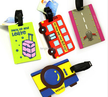 fancy 3d car shaped luggage tags with various design for kids
