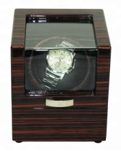 Single Luxury EbonyLacquer Wood Box Automatic Watch Winder Motor