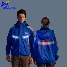 Cool mens night sport led shining warning running jacket