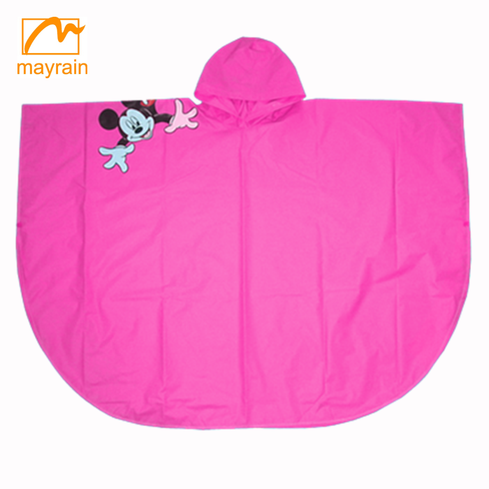 Hot Sale Kids Student Cartoon Thick Type Raincoat