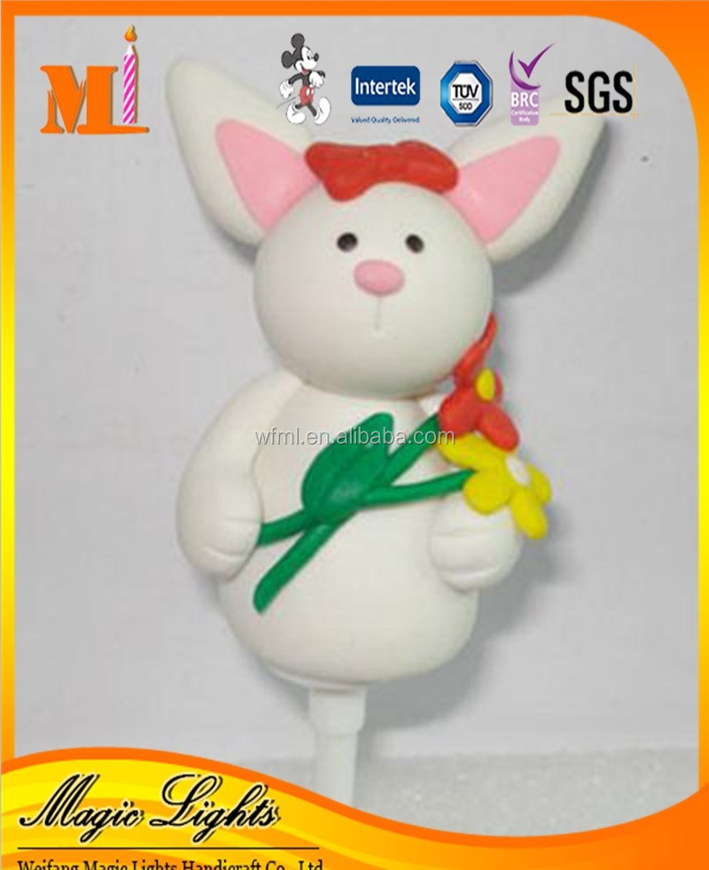Fair Rabbit Shaped Cake Decorations for Easter