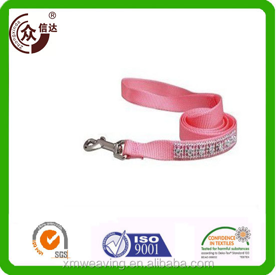 Cheap hot sale decorative plain logo printed name brand nylon/polyester dog neck collar and leash for pets training