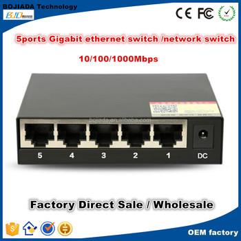 Metal case 10/100/1000Mbps 5 port Gigabit Ethernet Switch/Network Switch for Soho