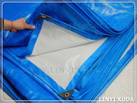 Polyethylene film korea pe blue white tarpaulin