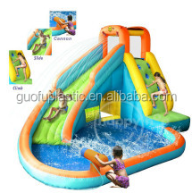 2014 New Design Inflatable Water Slide and Pool with Cannon-9117N Water Slide Park