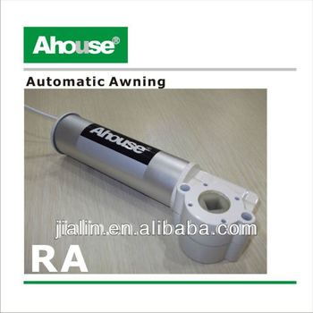 Remote control outdoor rain awning motorized retractable for Motorized outside air damper