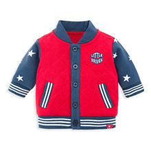 2017 Super Factory Baby Clothes Red Winter Cotton Fench Terry with Padding Baby Coat Baby Jacket