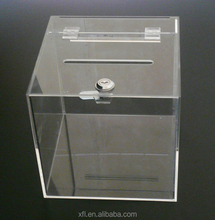 manufacturer standing custom donation acrylic charity box