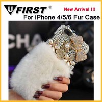Luxury Box fur case;Diamond fur phone cases For Samsung note4.