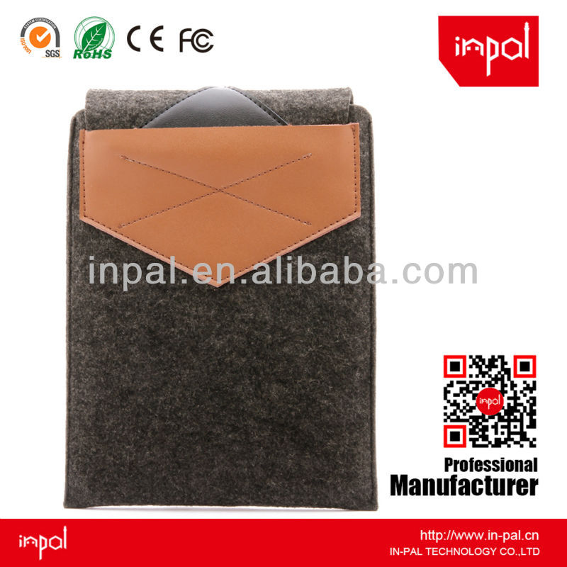 Real leather and felt cover cases for android tablet,for ipad mini