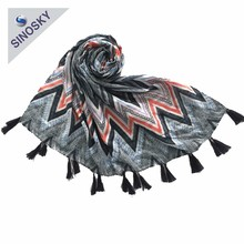 New Style Soft Touching Printed Christmas Polyester Scarf