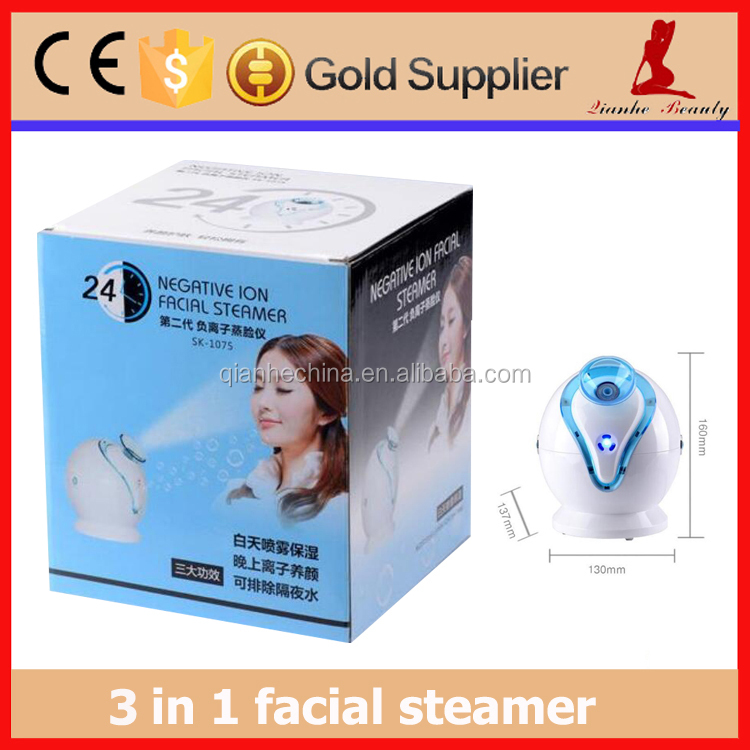 Negative ion hot steam beauty salon face nano steamer