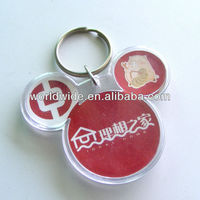 Customized Logo Printed Promotion Acrylic Keychain ,Photo Frame /Plastic Keychain