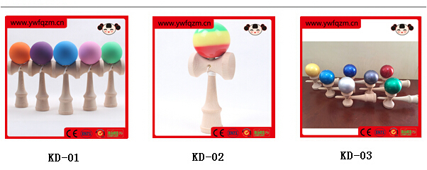 wooden eye painted custom kendama for wholesale