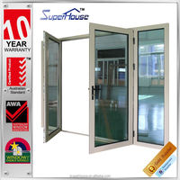 Australia style 4 panes double swing door for commercial