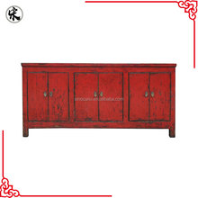 Antique Chinese Reproduction Buffet cabinet red sideboard