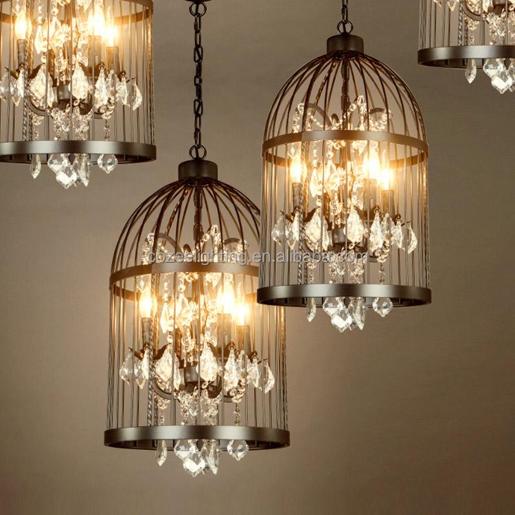 Rh Home Restaurant Decor Rustic Bird Cage Hanging Lighting
