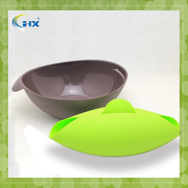 2015 silicone kitchenware collapsible colander