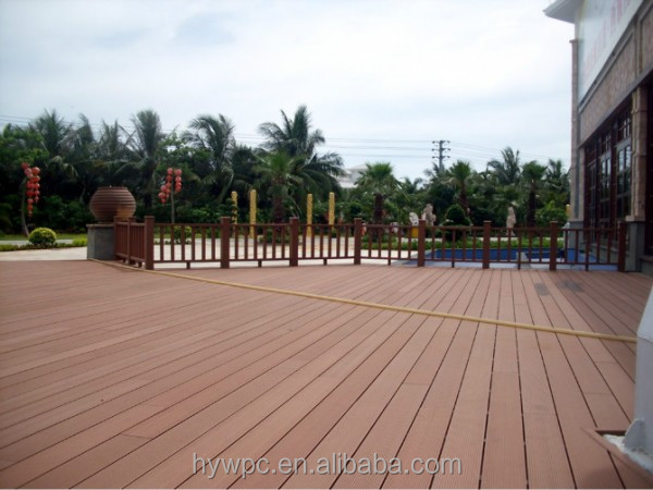 2017 Chinese the most popular top quality co extrusion absolute waterproof deck wpc
