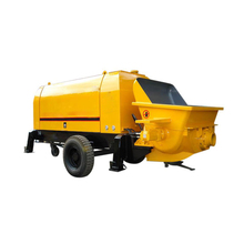 37KW power mobile trailer concrete conveying pump from factory sale