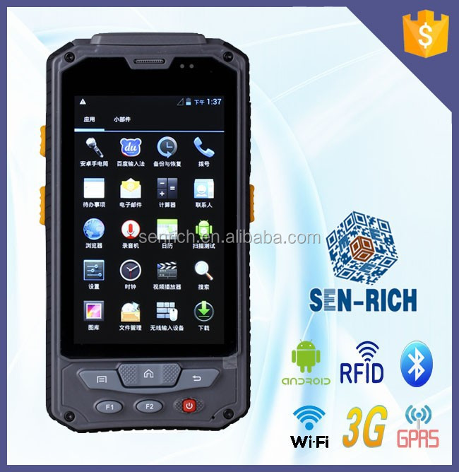 Android Touch Screen Handheld PDA 1D 2D Barcode Scanner WIFI GPS
