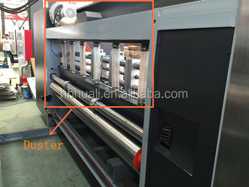 Full automatic high speed multi-color flexo ink printing die cutting machinery/Carton box making machine prices