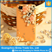Luxury Bling Diamond Cover Fancy Love Heart Case For iPhone5 5S, Minion Crystal Case PC Cover For Iphone 5 5S