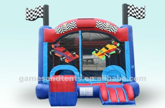 Racing Cars combo toy, infltable combo games A3098