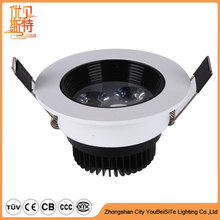 3 Years Warranty Patent Design New recessed cob LED Downlight IP54 free soldering dimmable downlight led no flickering