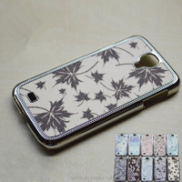 Cheap bling rhinestone lagging phone pc cases for samsung galaxy s4