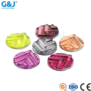 guojie brand fashion design custom different color round customized size for clothing resin stone