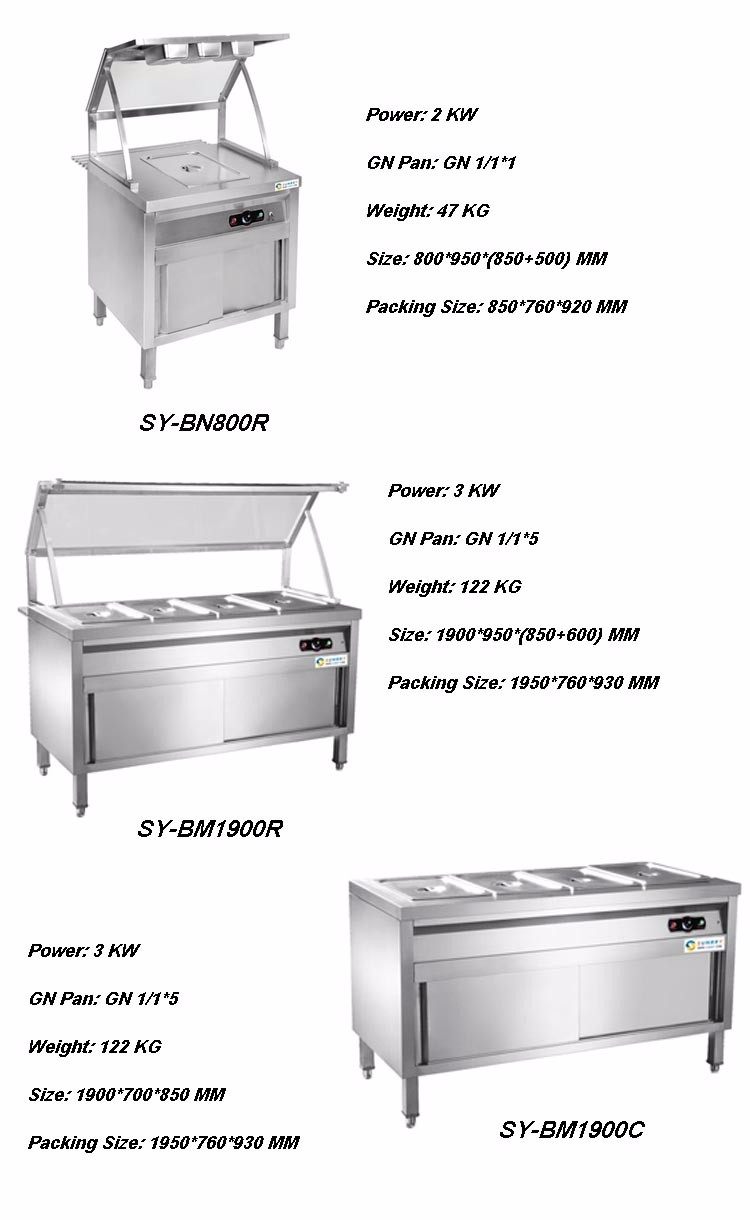 Commercial kitchen equipment keep warm table hot food for Cuisine commerciale equipement