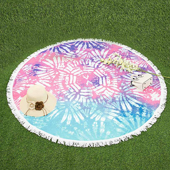 100%cotton or microfiber custom printed round beach towels / baby kids childs round beach towel / blank round beach towels