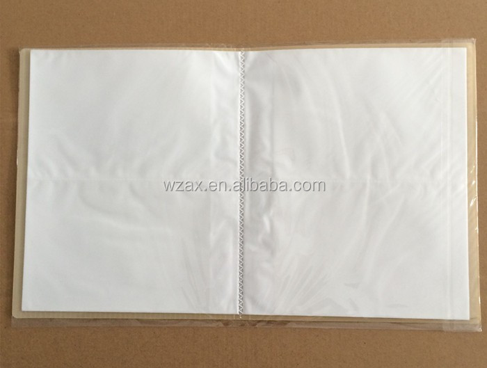 A5 size 20 pages 80 pockets double-sided plastic photo album cover