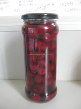 High quality cherry in glass jar