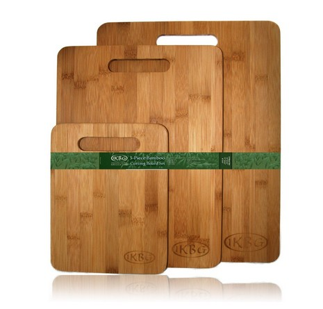 Bamboo Cutting Board Set - 3 Piece All In One Pack - Strong and Durable Hard Wood That Is Kind To Your Knives