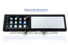 4.3inch car rearview mirror monitor with built-in gps navigation