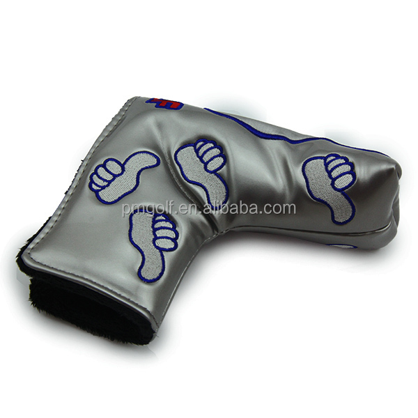 Golf putter cover PU leather, good thumbs putter cover, magnet putter cover
