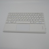 New desgin ultra thin aluminium bluetooth keyboard with touch pad