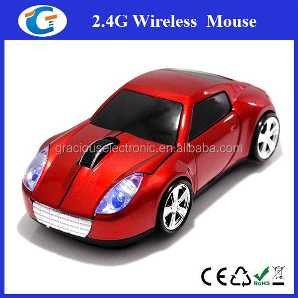 2.4Ghz wireless drivers USB car optical mouse