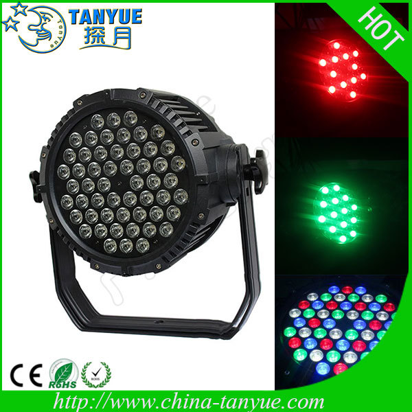 Hot product 54 3w rgbw waterproof led par light ip65 waterproof led shower light