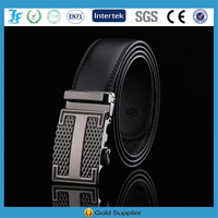 the most popular genuine leather belt with steel auto buckle
