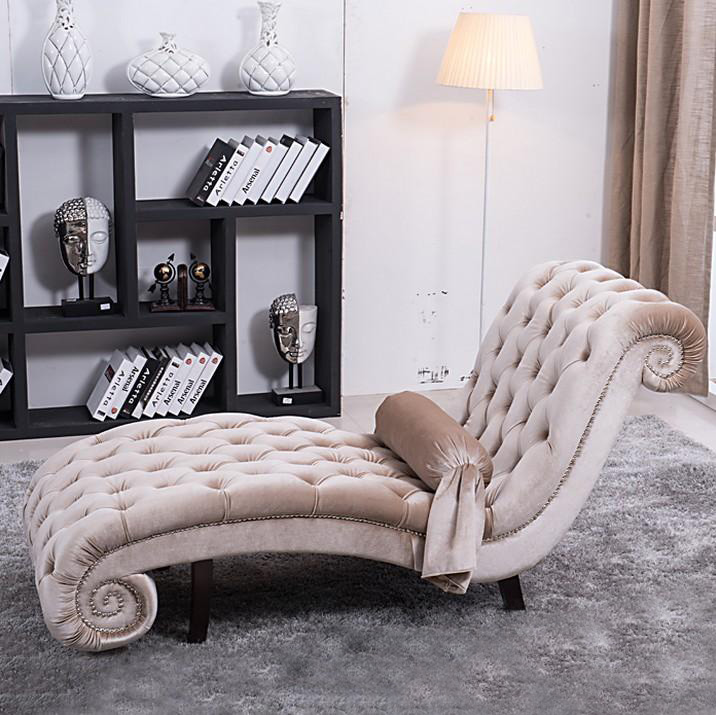 2015 Luxury lounge chair, Cheap chaise lounge, Velvet lounge suite