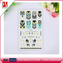 YS new fashion cross dual-use 3D glitter gold metallic nail art stickers/decals OEM waterproof korean gel style