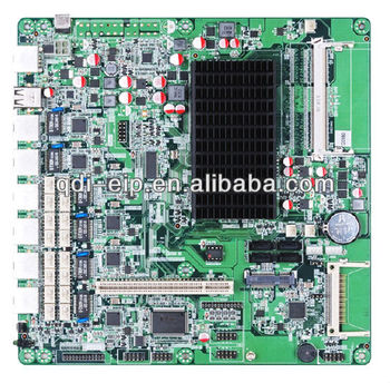 High Performance Fanless Network Security Motherboard with D2550 cpu and cf slot,6 lan ports
