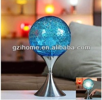 blue crystal ball touch table lamp