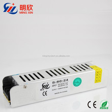 60w high quality 24v 2.5a slim case led driver/ power supply ,ac/dc strip shape led switching power supply dc24v