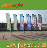 Printed Type and Polyester Flags & Banners Material feather backpack banner